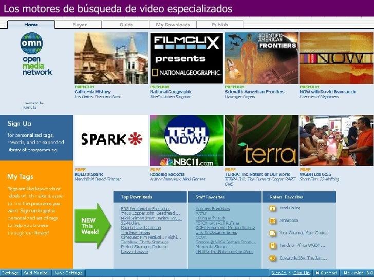 Los motores de búsqueda de video especializados
