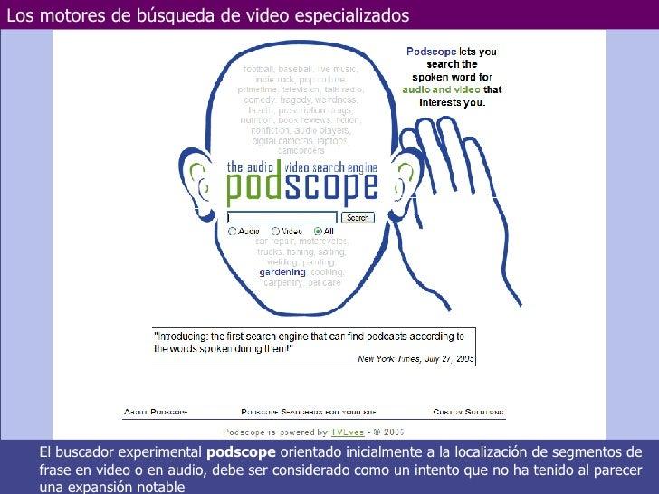 Los motores de búsqueda de video especializados Marzo de 2006 Departamento de Electrotecnia y Electrónica  UNIVERSIDAD DE ...