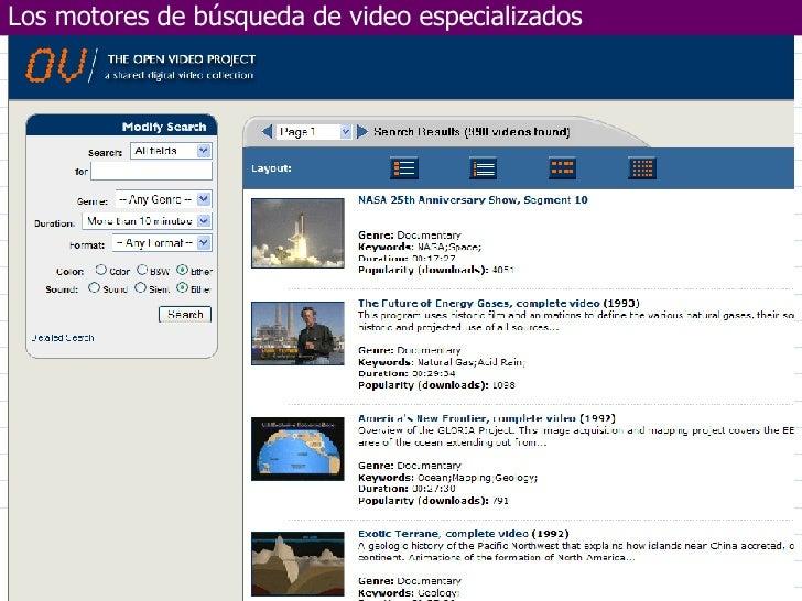 Marzo de 2006 Departamento de Electrotecnia y Electrónica  UNIVERSIDAD DE CÓRDOBA Los motores de búsqueda de video especia...