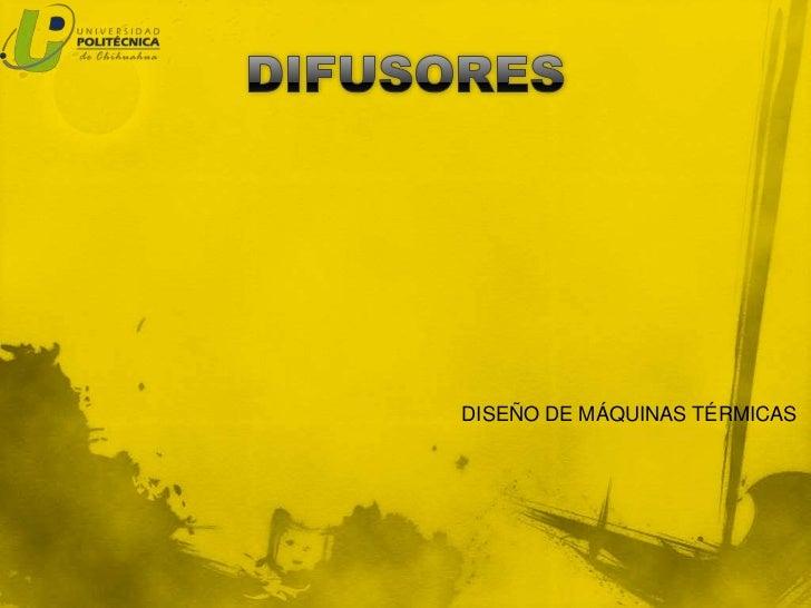 DISEÑO DE MÁQUINAS TÉRMICAS