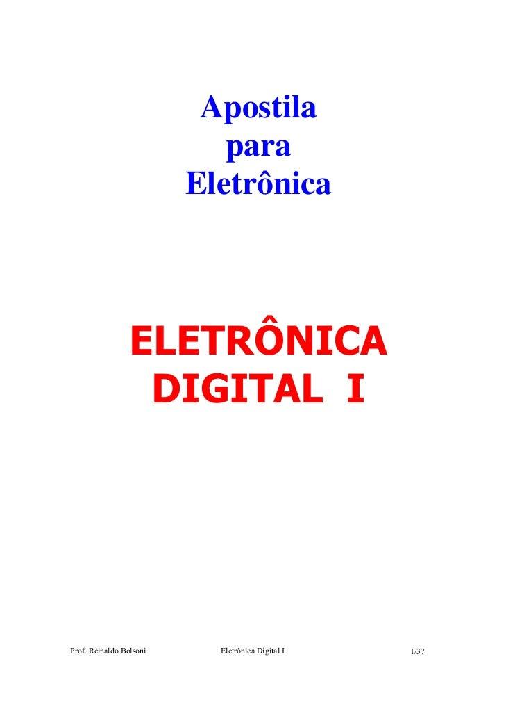 Apostila                            para                         Eletrônica                 ELETRÔNICA                  DI...
