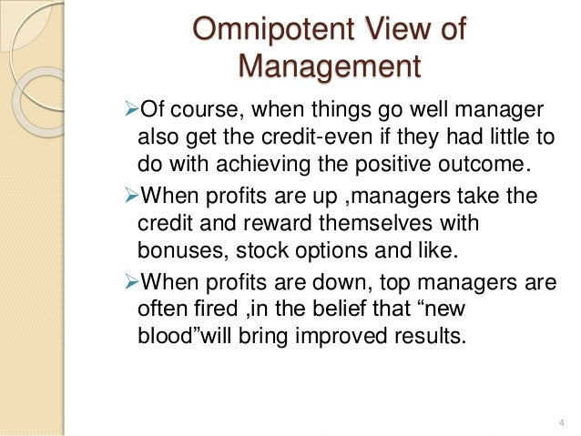 the manager omnipotent or symbolic How to use omnipotent in a sentence example sentences with the word omnipotent omnipotent example sentences.