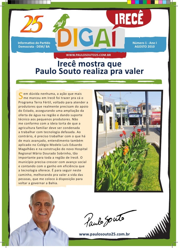 Irecê mostra que Paulo Souto realiza pra valer