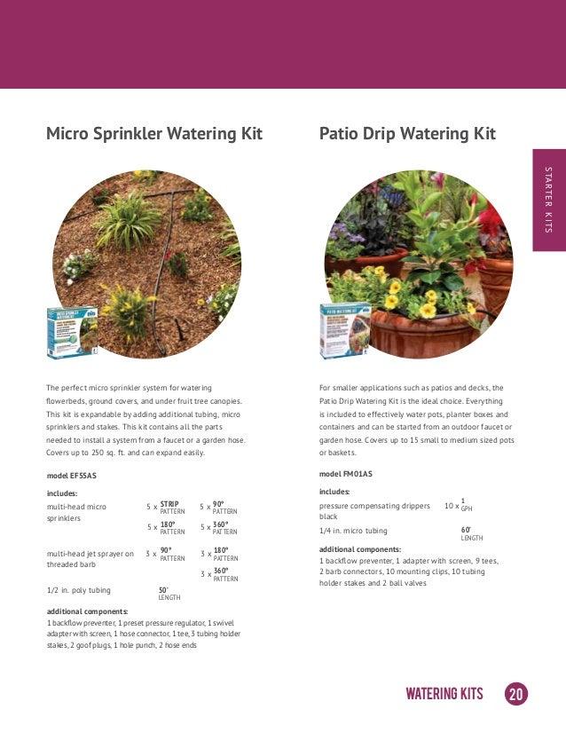 Sprinkler on stake Garden Border, complete irrigation kit,180 degree heads
