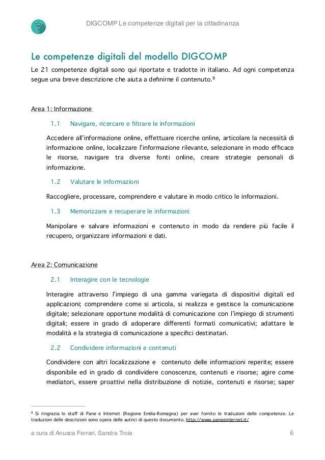 digcomp le competenze digitali per la cittadinanza  anusca ferrari  s u2026