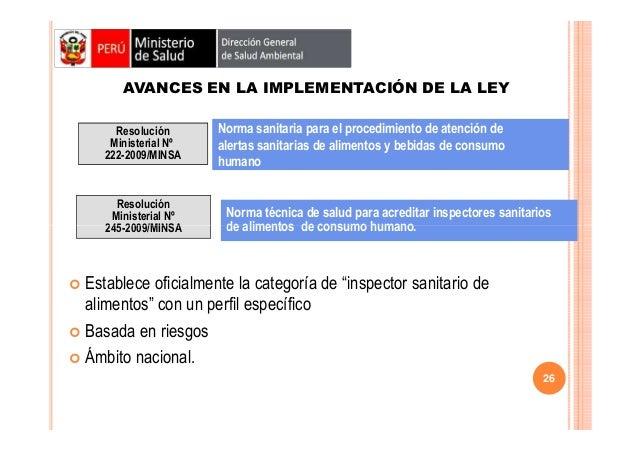 AVANCES EN LA IMPLEMENTACIÓN DE LA LEY Resolución Ministerial Nº 222-2009/MINSA  Resolución Ministerial Nº 245-2009/MINSA ...
