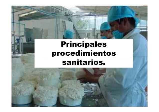 Principales procedimientos sanitarios.