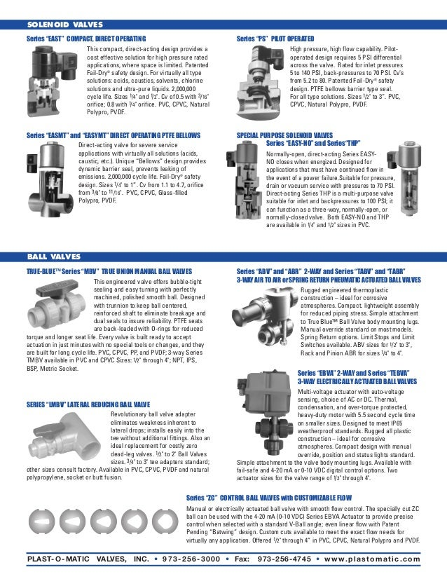 Thermoplastic valves and control plastomatic