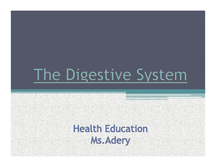 The process by which the Digestive System breaks down food into molecules the body can use.  There are two types of digest...
