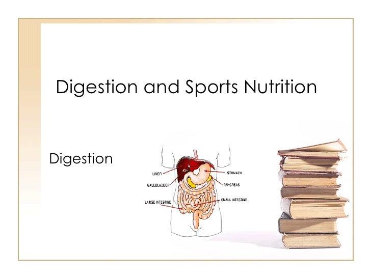 Digestion and Sports Nutrition Digestion