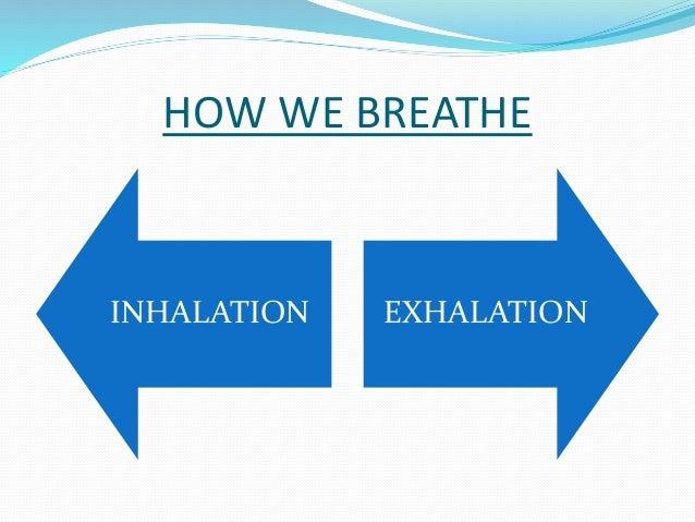 HOW WE BREATHE  INHALATION EXHALATION