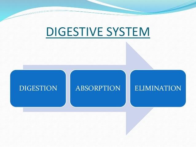 DIGESTIVE SYSTEM  DIGESTION ABSORPTION ELIMINATION