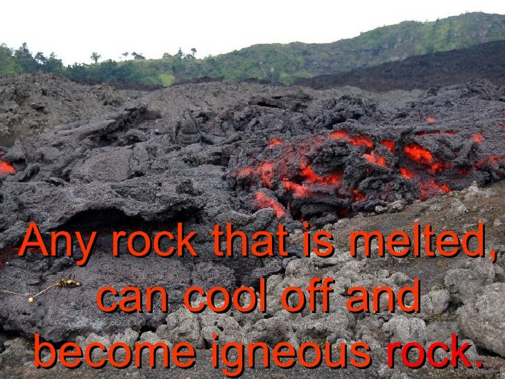 what type of rock starts off as a liquid