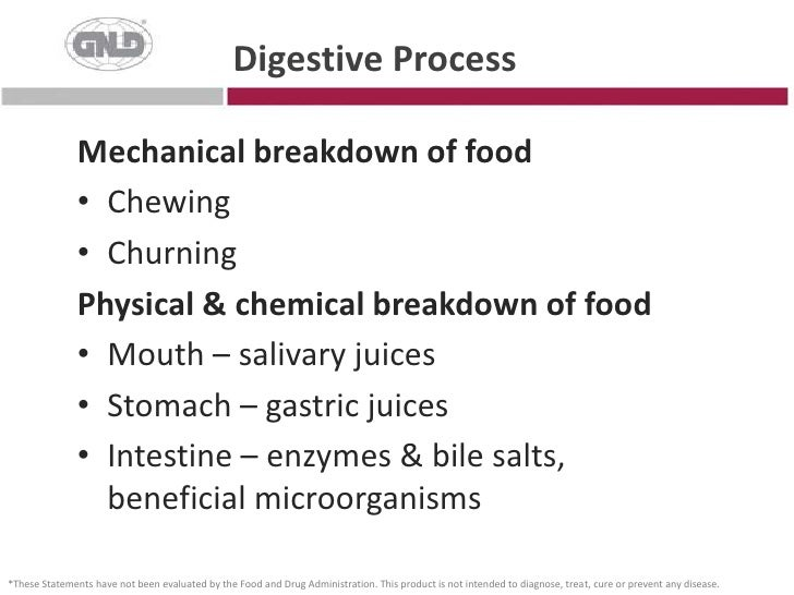 Digestive Process<br />Mechanical breakdown of food<br />Chewing<br />Churning<br />Physical & chemical breakdown of food<...