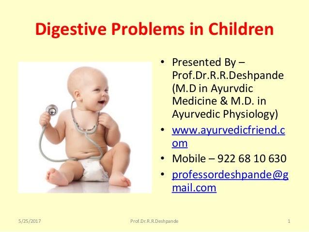 Digestive problems in children