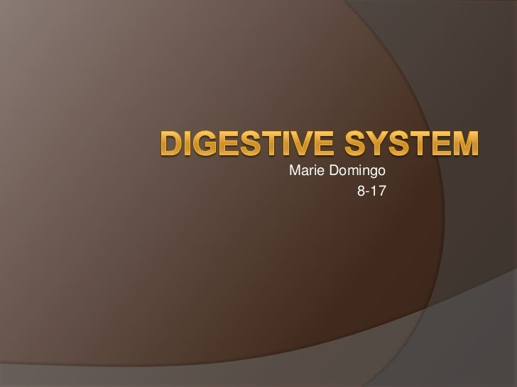 Marie Domingo<br />8-17<br />Digestive System<br />
