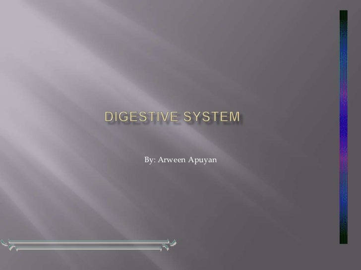 Digestive System<br />By: ArweenApuyan<br />