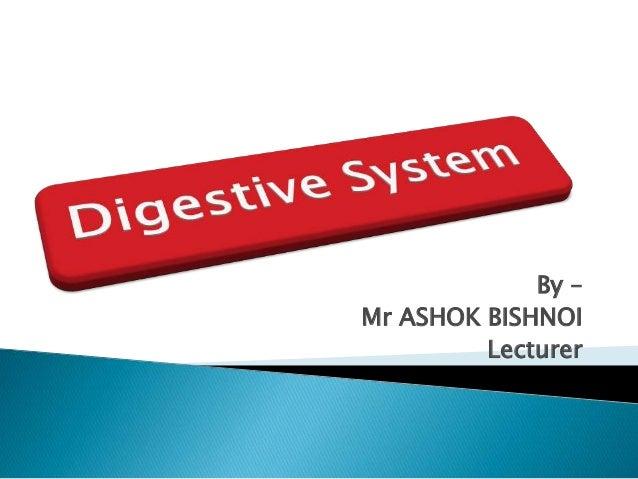 By – Mr ASHOK BISHNOI Lecturer