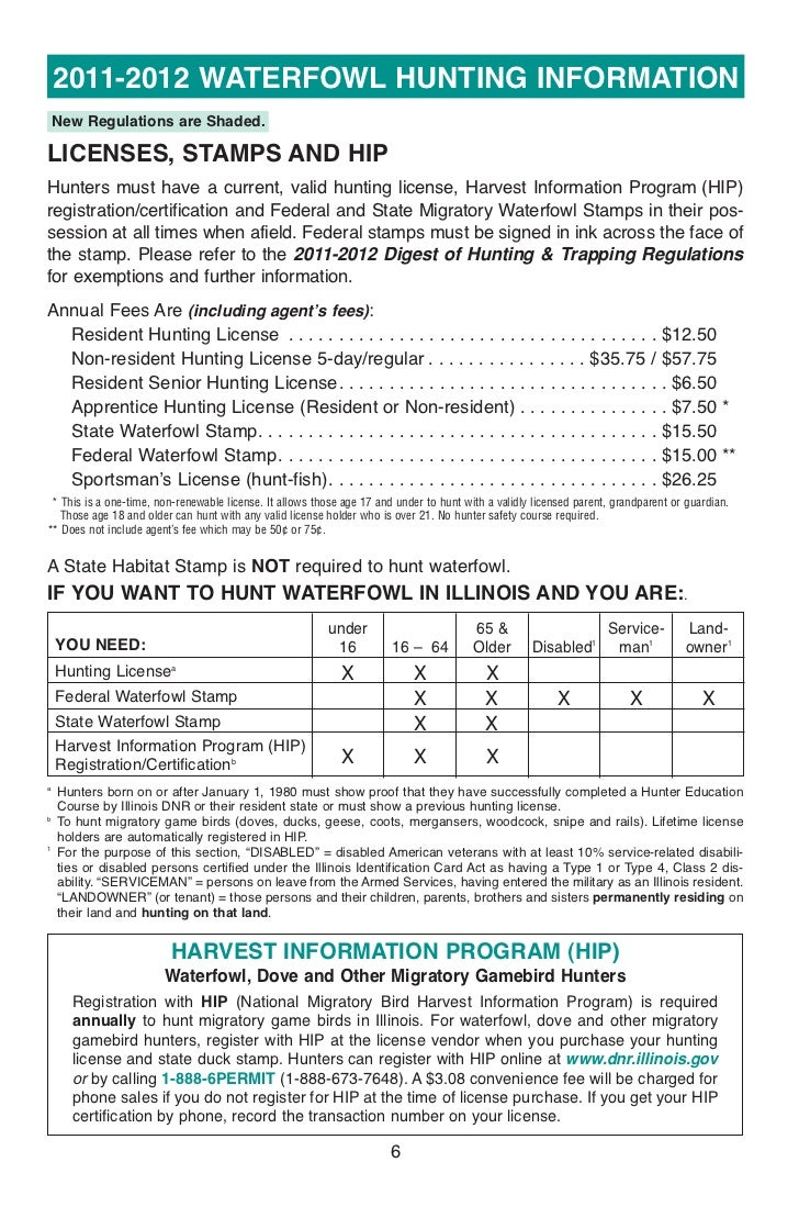 Digest waterfowlhuntingregulations for Senior citizen fishing license