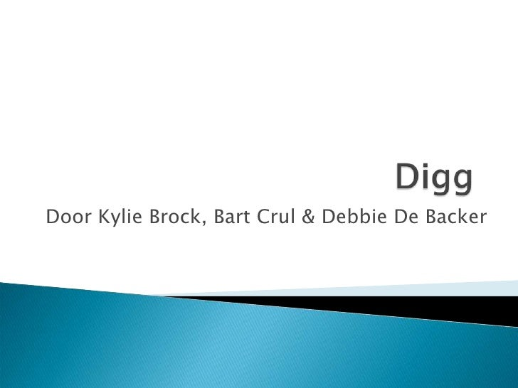Door Kylie Brock, Bart Crul & Debbie De Backer