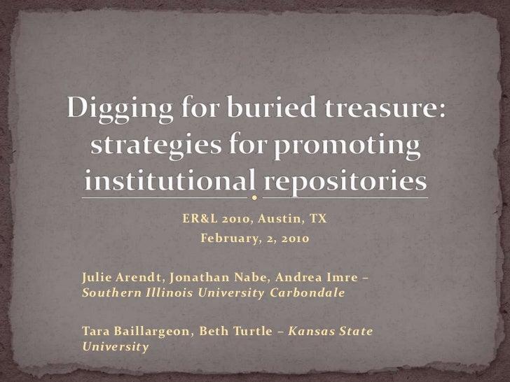 ER&L 2010, Austin, TX                 February, 2, 2010Julie Arendt, Jonathan Nabe, Andrea Imre –Southern Illinois Univers...