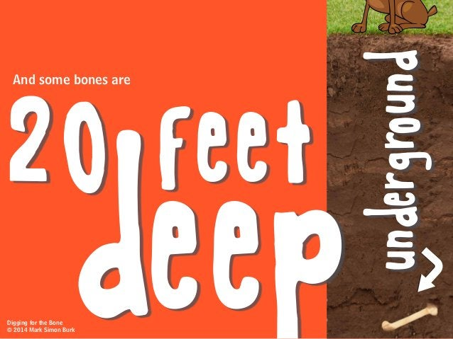 And some bones are 20 feet underground deepDigging for the Bone © 2014 Mark Simon Burk
