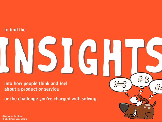INSIGHTS or the challenge you're charged with solving. into how people think and feel about a product or service to find t...