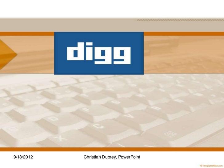 9/18/2012   Christian Duprey, PowerPoint