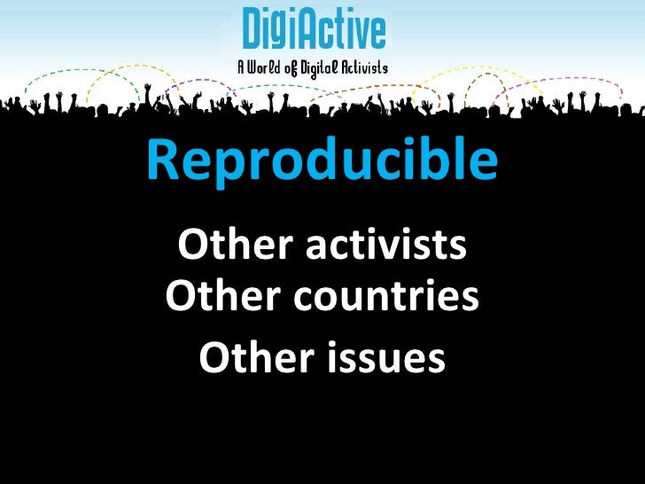 Other countries Reproducible Other issues Other activists