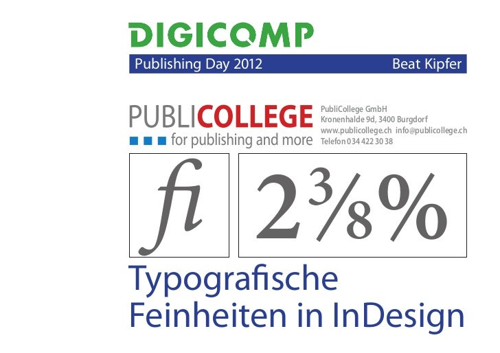 Publishing Day 2012                      Beat Kipfer                          PubliCollege GmbH                         ...