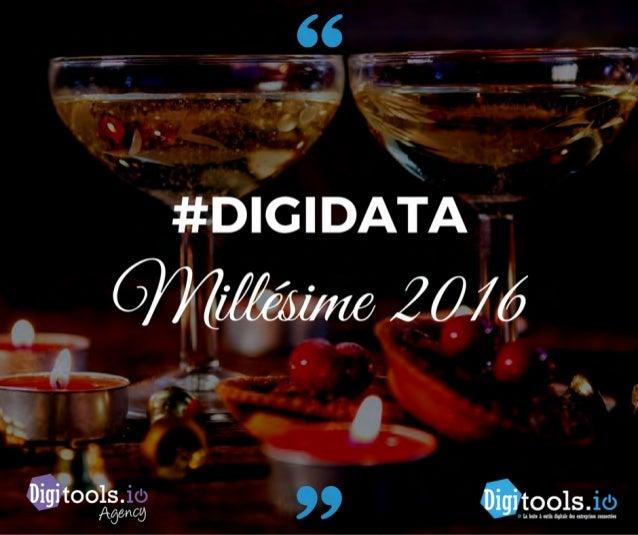 Digidata millésime 2016 : les 182 DATA sur la transformation digitale qui ont marqué l'année 2016