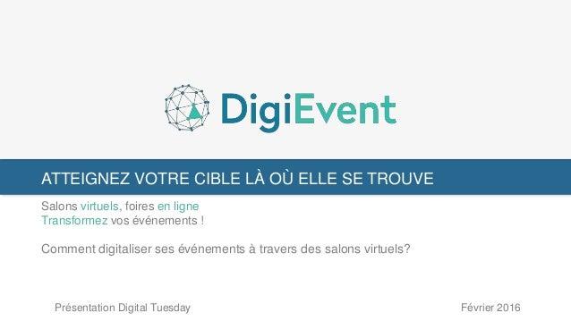 ATTEIGNEZ VOTRE CIBLE LÀ OÙ ELLE SE TROUVE Salons virtuels, foires en ligne Transformez vos événements ! Comment digitalis...