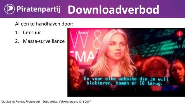 Dr. Matthijs Pontier, Piratenpartij – Digi Juridica, VU Amsterdam, 13-3-2017