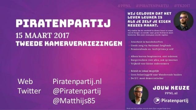 Hoe de Piratenpartij de rechtsstaat wil beschermen en waarom je deze presentatie met iedereen mag delen - Presentatie voor...