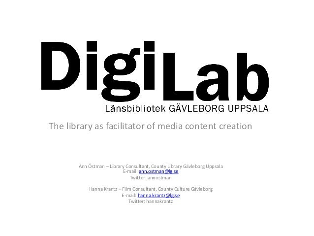 The library as facilitator of media content creation         ...