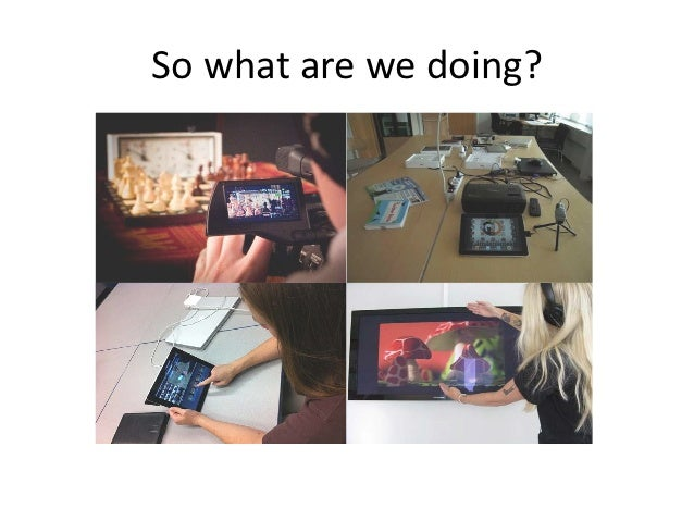 So what are we doing?