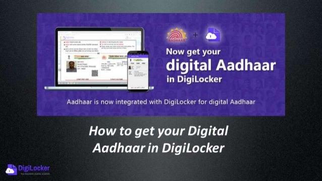Demo: How to get your Digital Aadhaar (eAadhaar) in DigiLocker