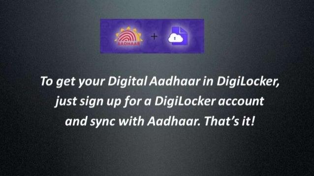 Demo: How to get your Digital Aadhaar (eAadhaar) in DigiLocker Slide 2