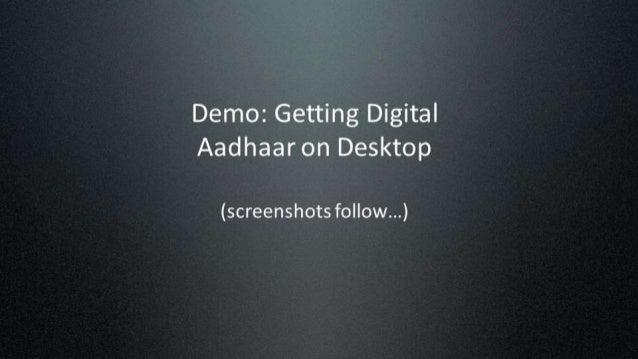 Demo: How to get your Digital Aadhaar (eAadhaar) in DigiLocker Slide 3