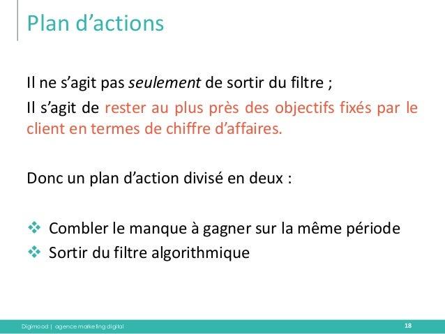 Digimood | agence marketing digital  Plan d'actions  18  Il ne s'agit pas seulement de sortir du filtre ;  Il s'agit de re...