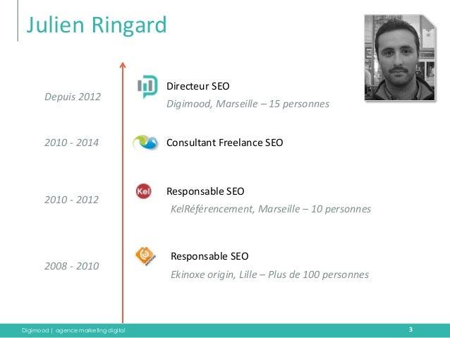Digimood | agence marketing digital  Julien Ringard  Directeur SEO  3  Responsable SEO  Responsable SEO  Consultant Freela...