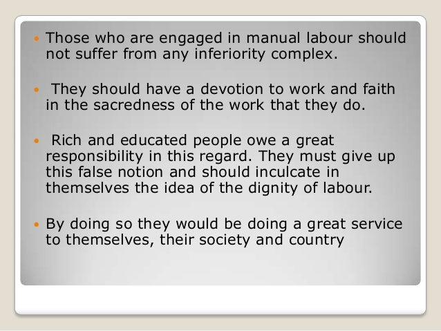 Dignity of labour essay