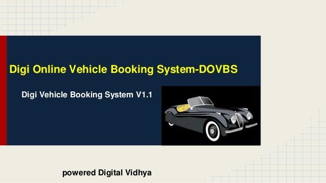 Digi online vehicle booking system dovbs v2 1