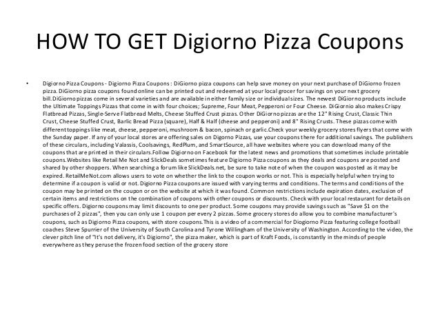 photograph relating to Digiorno Pizza Coupons Printable titled Digiorno Pizza Discount codes - Printable Digiorno Pizza Coupon codes