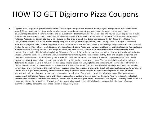 photograph regarding Digiorno Pizza Coupons Printable titled Digiorno Pizza Discount coupons - Printable Digiorno Pizza Discount coupons