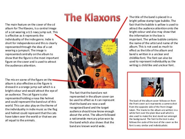 The main feature on the cover of the cd album for The Klaxons, Is a central image of a cat wearing a U.S navy jump suit. T...