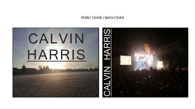 FRONT COVER / BACK COVER CALVIN HARRIS CALVINHARRIS