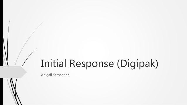 Initial Response (Digipak) Abigail Kernaghan