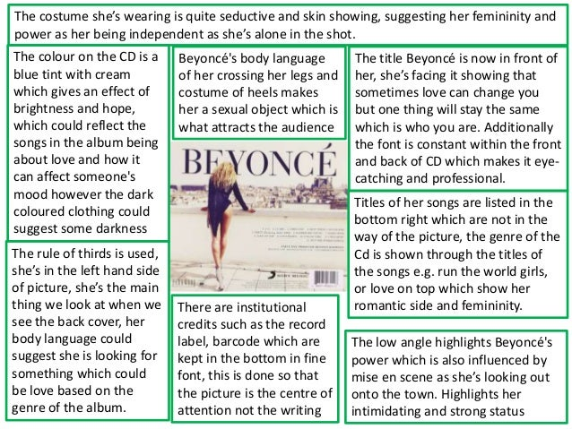 Digipak analysis Beyonce album 4 by Anna Gajda