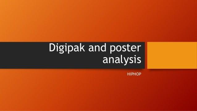 Digipak and poster analysis HIPHOP